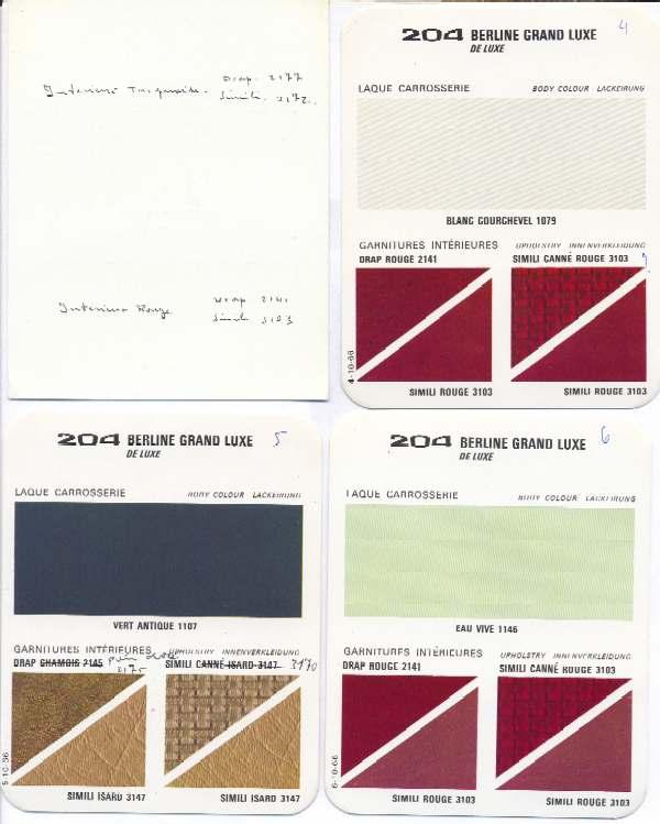 Ma204 - Teintiers Papier Peugeot 204 304